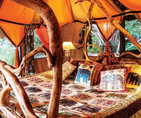Elephant Watch Camp, rooms, tents, luxury tents, eco camp, eco friendly, eco design, environmentally friendly, conservation, sustainability, Elephant Watch Portfolio, Nairobi, Kenya, Samburu National Reserve, luxury tented camp, orange room