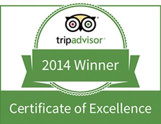 TripAdvisor, review, badge, certificate of excellence, 2014, Olerai, Olerai House, Naivasha, Lake Naivasha, Elephant Watch Portfolio. Nairobi, Kenya