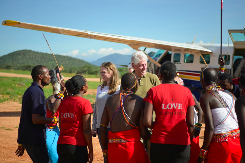 Bill and Chelsea Clinton's Visit to Save the Elephants