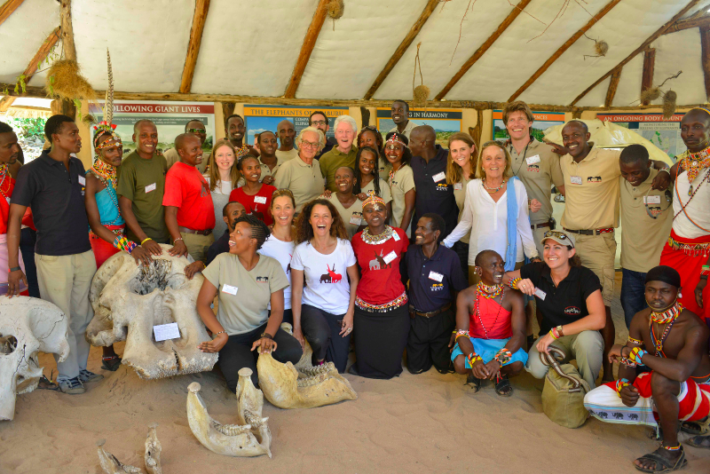 Bill Clinton, Hilary Clinton, Chelsea Clinton, Save the Elephants, STE, Samburu National Reserve, Kenya, Elephant Watch Portfolio, EWP, STE visitors centre, elephants, Clinton's Foundation